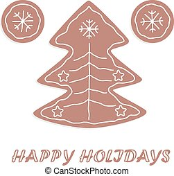 Christmas cookies themed card