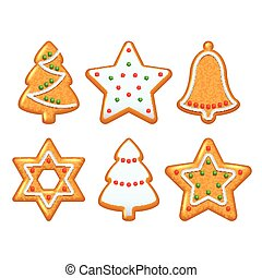 Christmas cookies vector set