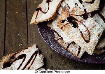 Christmas cookies with chocolate