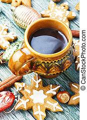 Christmas cookieswith tea
