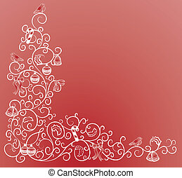 christmas corner pattern - A vector illustration of a...
