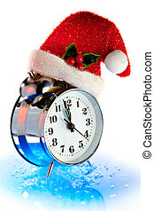 Christmas countdown of time - New Year's sample of time-...