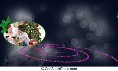 Christmas couples animation - Christmas animation with a...