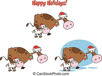 Christmas Cow and Calf. Collection