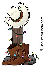 Christmas Cowboy Hat and Boots
