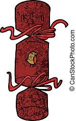christmas cracker cartoon