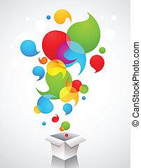 Christmas creative gift ideas - Christmas gift box with...