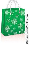Christmas Creen Shopping Bag