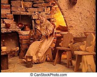 CHRISTMAS CRIB farmhouse interior