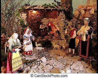 CHRISTMAS CRIB nativity scene zoom