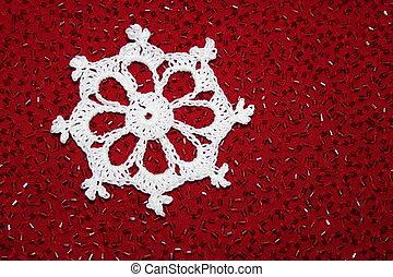 Christmas Crochet Lace Snowflake