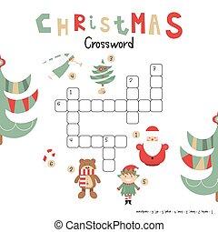 Christmas Crossword - Christmas Kids Crossword in English. ...