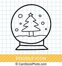 Christmas crystal ball doodle