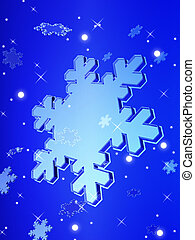 christmas crystal snow falling