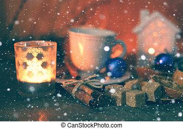 christmas cup of orange cinnamon sugar