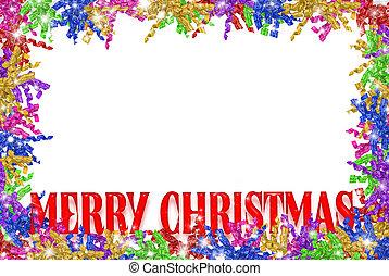 Christmas curly ribbon border