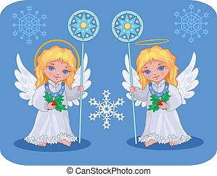 Christmas cute angels set