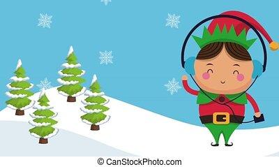 Christmas cute cartoons HD animation