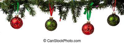 christmas díszít, függő, alapján, girland