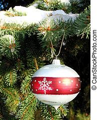 christmas díszít, képben látható, fenyő fa