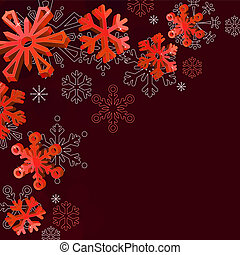 Christmas dark background background with counter snowflakes