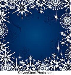 Christmas dark blue background - Dark blue grunge background...