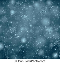 Christmas dark blue background with snowflakes.