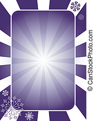 Christmas dark blue frame with radiate rays (vector)