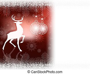 Christmas dark red design with a deer