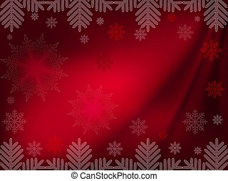 Christmas dark red design with gorgeous snowflakes
