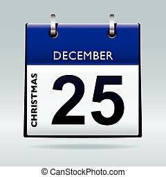 christmas day calendar blue