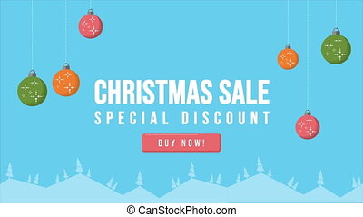 Christmas day with Christmas sale animation collection