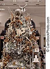 Christmas Decor at Bergdorf Goodman in New York City