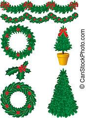 christmas decor - Vector illustration - christmas decor and...