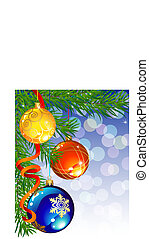 christmas decor - vector illustrations - christmas decor and...