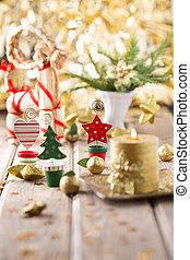 Christmas decor. - Christmas backgrounds. Christmas decor on...