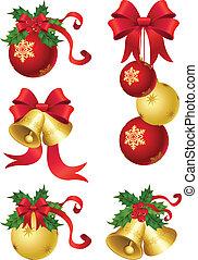 christmas decor - vector illustrations - christmas decor and...