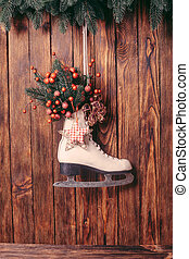 Christmas decorated skate