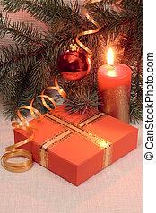 Christmas decoration and gift box