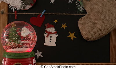 Christmas Decoration and Santa Claus Sphere