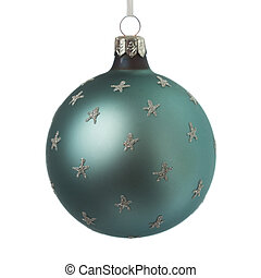 Christmas decoration ball isolated on white
