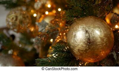 Christmas decoration balls and composition on a Christmas...