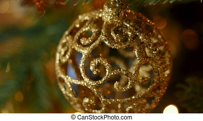 Christmas decoration balls and composition