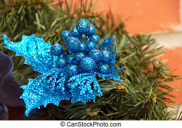 Christmas Decoration Balls and Leaves