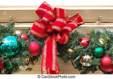 Christmas Decoration Balls and Ribbon