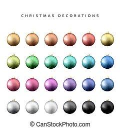 Christmas decoration balls range.