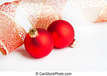 Christmas decoration balls with ribbon