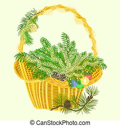 Christmas decoration basket