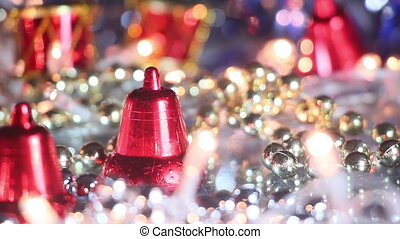 christmas decoration bell close-up seamless loop
