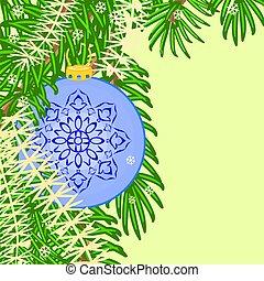 Christmas decoration blue baubles